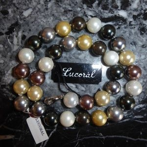 LUCORAL Mother of Pearl Sterling silver Necklace